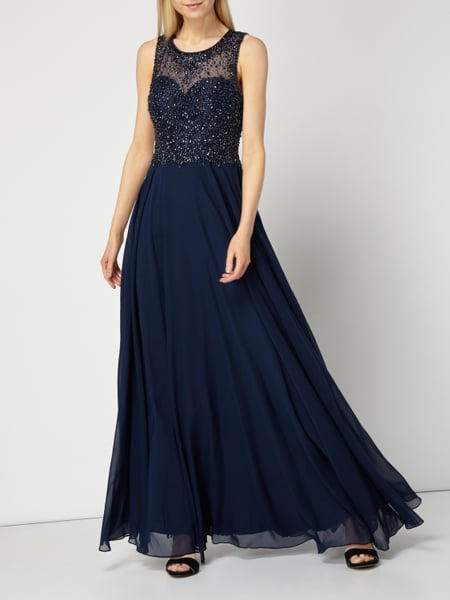 Abendkleid unique blau