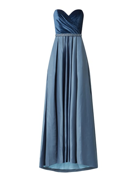 Unique Corsagenkleid in Wickel-Optik Blau - 1