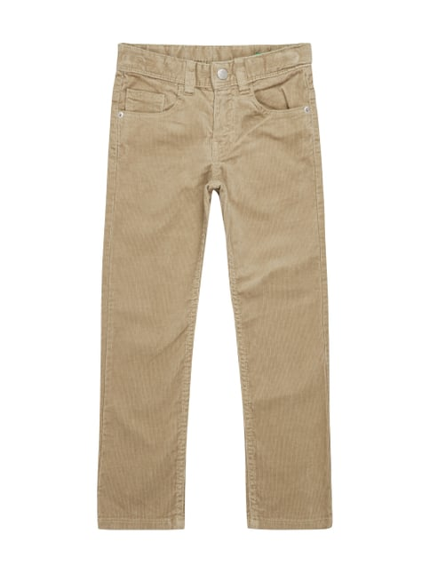 Skinny Fit 5-Pocket-Cordhose Weiß - 1