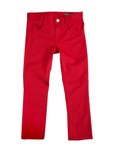 6a7aaeb546 United Colors of Benetton Skinny Fit 5-Pocket-Hose mit Stretch-Anteil Rot
