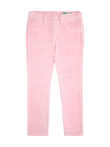 2e159a9ca5 United Colors of Benetton Skinny Fit Treggings aus weichem Cord Rosé - 1