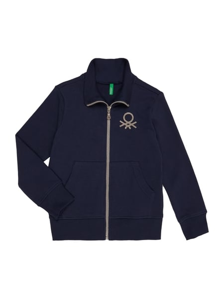 aa673769cf UNITED-COLORS-OF-BENETTON Sweatjacke mit Print in Blau / Türkis ...