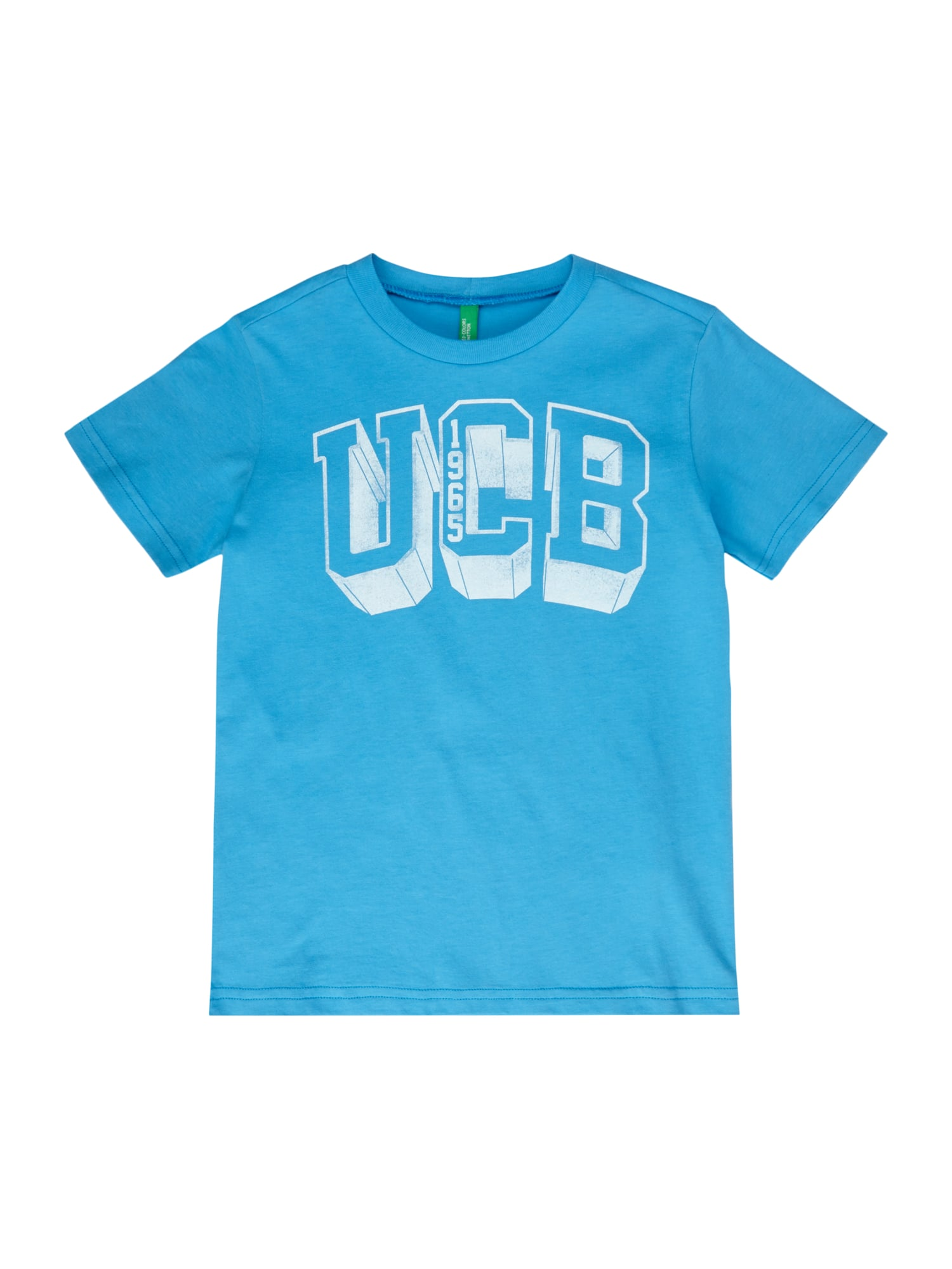 United colors of benetton t shirt mit logo print in blau for United colors of benetton logo