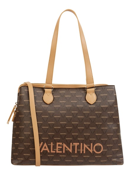 VALENTINO BAGS Shopper in Leder-Optik Modell 'Liuto' Braun - 1