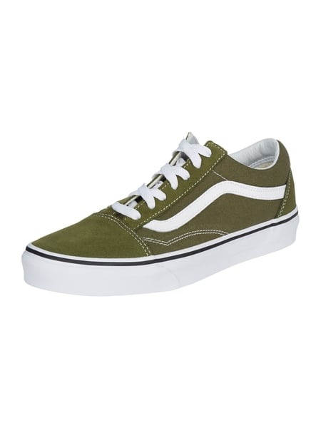 Vans Ua Old Skool - Sneaker 'Old Skool' aus Canvas und Veloursleder Olivgrün