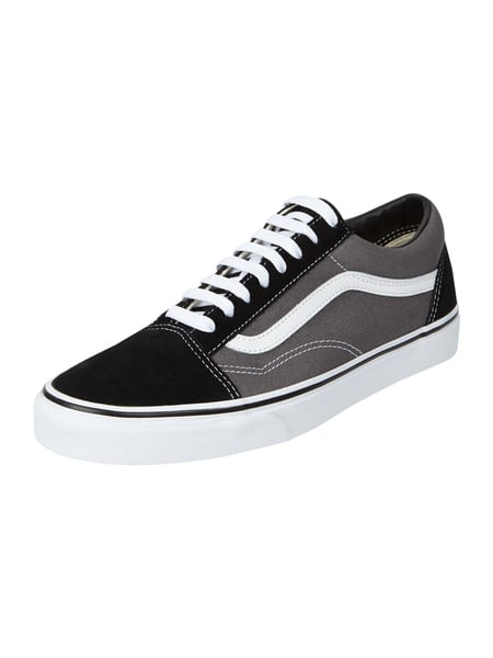 the latest 34c1f 93ce6 VANS Sneaker 'Old Skool' aus Leder und Canvas in Grau ...