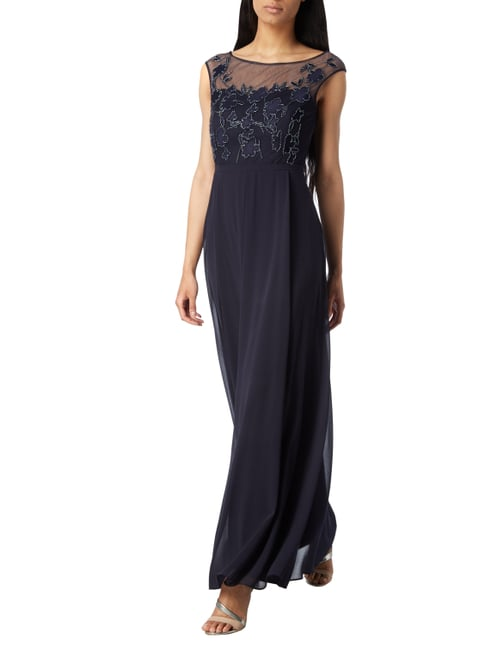 vera mont kleid blau kleider on pinterest chiffon bridesmaid dresses chiffon vera mont kleid. Black Bedroom Furniture Sets. Home Design Ideas