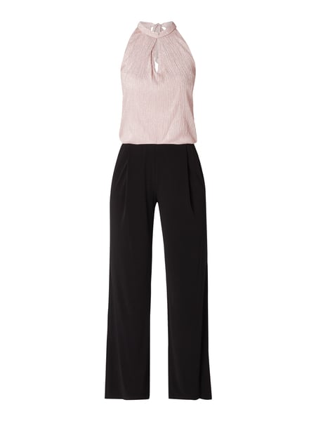 look for new style huge inventory Vera Mont – Two-Tone-Jumpsuit mit Schnürung – Rosé