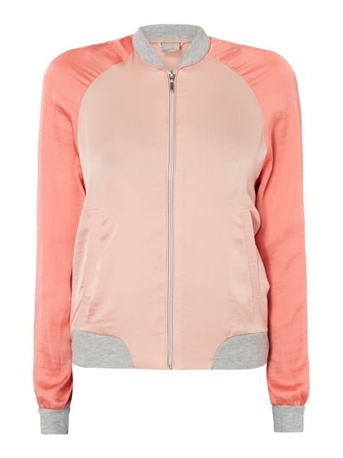 Bomber aus Satin Orange - 1