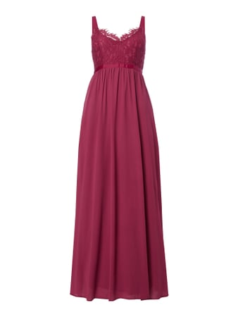 Maxikleid im Empire-Stil Rot - 1