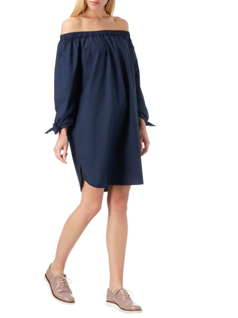 Vero Moda Off Shoulder Kleid aus Baumwolle in Blau / Türkis - 1