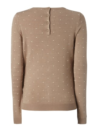 Vero Moda Pullover mit Punktemuster Taupe - 1