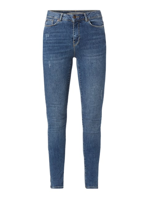 Super Slim Fit Jeans im Used Look Blau / Türkis - 1