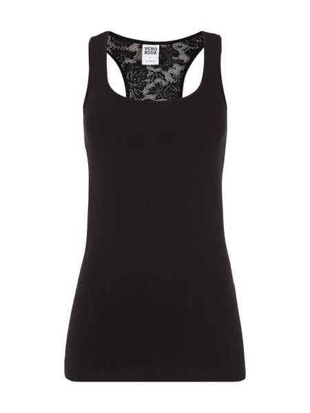 vero moda tanktop mit racerback aus spitze in grau. Black Bedroom Furniture Sets. Home Design Ideas