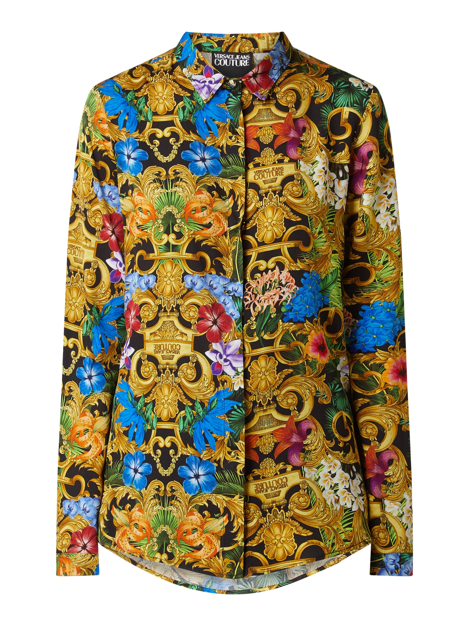 VERSACE JEANS COUTURE Bluse mit Ornamentmuster in Grau ...