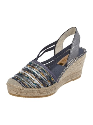 Wedges in Metallicoptik Blau / Türkis - 1