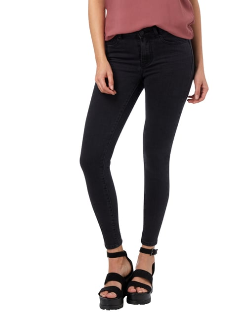 Vila Coloured Skinny Fit Jeans mit Stretch-Anteil Dunkelgrau - 1