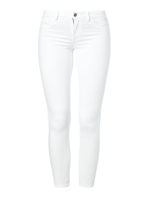 Coloured Super Slim Fit Jeans Weiß - 1