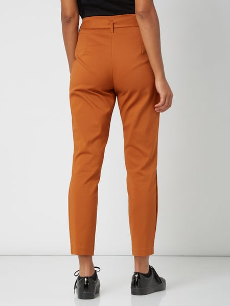 Vila – High Waist Paperbag Hose Better Cotton Initiative – Cognac