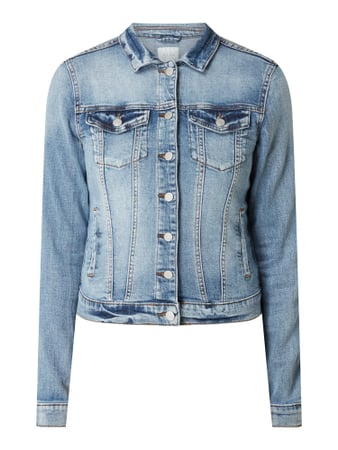 Vila Jeansjacke im Washed Out Look Modell 'Show' Blau - 1
