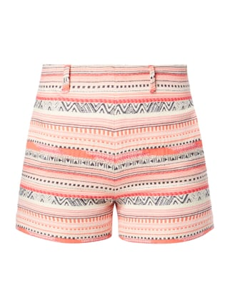 Shorts mit Ethno-Muster Rosé - 1