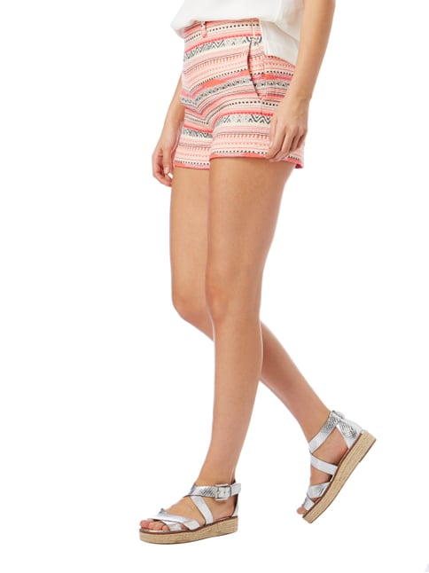 Vilagallo Shorts mit Ethno-Muster Neon Pink - 1