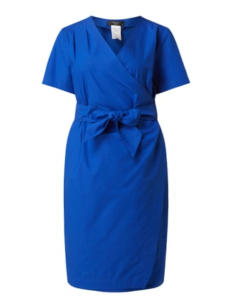 Weekend Max Mara Kleid in Wickel-Optik Modell 'Felino' Blau - 1