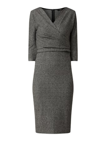 Weekend Max Mara Kleid in Wickel-Optik Schwarz - 1