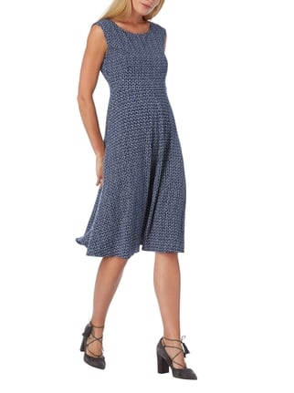 Weekend Max Mara Kleid mit Allover-Muster in Blau / Türkis - 1