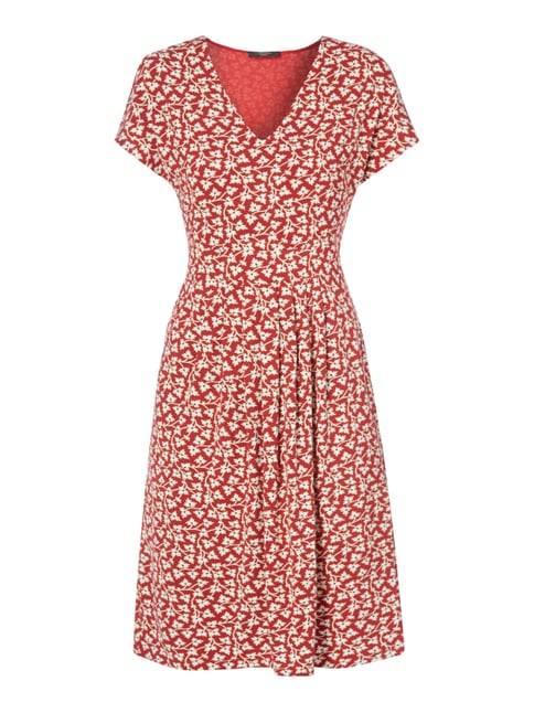 Kleid mit Allover-Muster Rot - 1