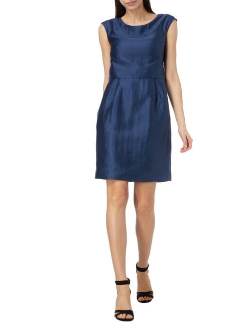 Weekend Max Mara Leinenkleid mit Vorderseite im Rock-Top-Look in Blau / Türkis - 1