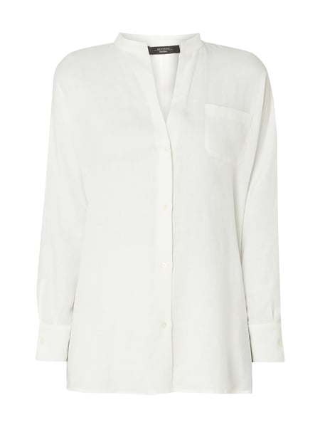 Weekend Max Mara Oversized linnen blouse met borstzak Wit - 1