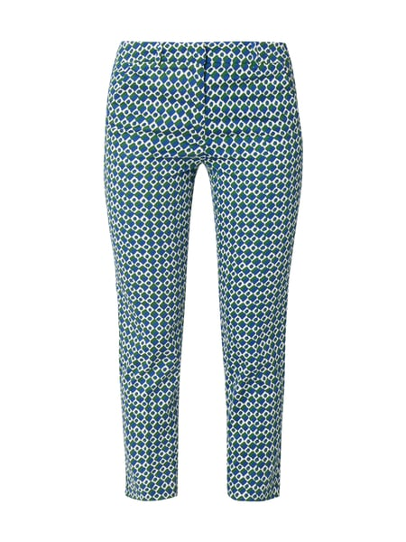 Weekend Max Mara Slim Fit Stoffhose mit Allover-Muster Bleu