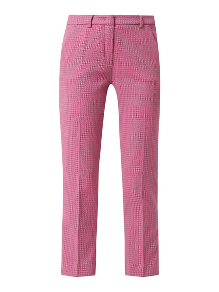 Weekend Max Mara Stoffhose in gerader Passform mit Stretch-Anteil Modell 'Hateley' Rosa - 1
