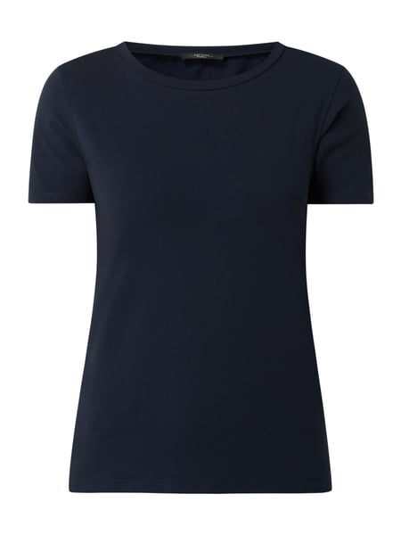Weekend Max Mara T-Shirt mit Stretch-Anteil Modell 'Multib' Blau - 1