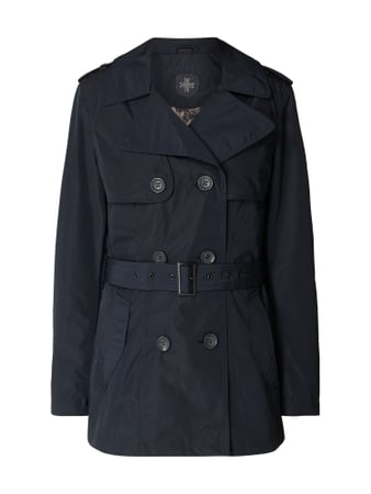 Wellensteyn Bahia 579 Trenchcoat mit Logo-Applikation Blau / Türkis - 1