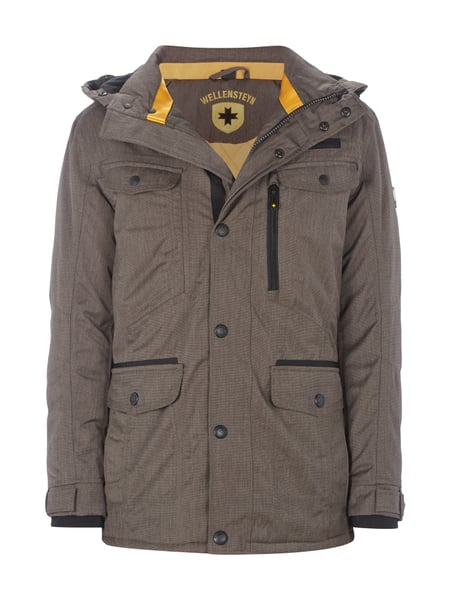 ecc351fce64e3 WELLENSTEYN Winter Chester 594 Funktionsjacke mit Kapuze in Braun ...
