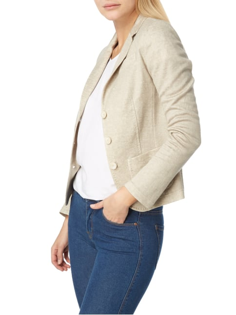 White Label 3-Knopf-Strickblazer in Melangeoptik Hellrosa - 1
