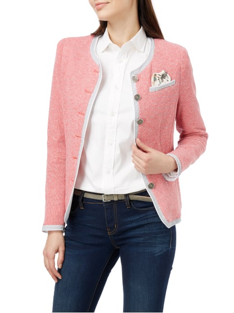 White Label Strickblazer in Melangeoptik Koralle - 1