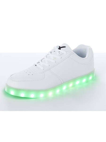 lowest price 24ed6 bfaa5 WIZE & OPE – Sneaker mit LED-Sohle – Weiß