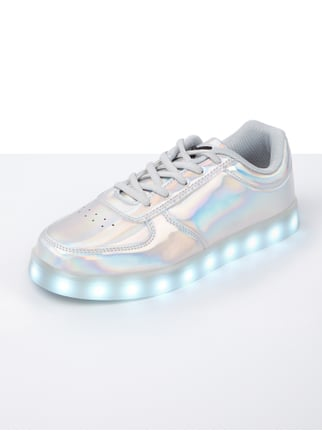 WIZE & OPE Sneakers mit LED-Sohle in Grau / Schwarz - 1