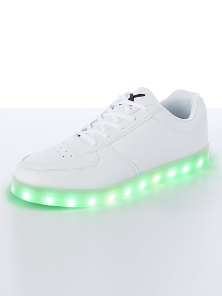 best sneakers a8936 e978e WIZE-OPE Sneakers mit leuchtender LED-Sohle in Weiß online ...