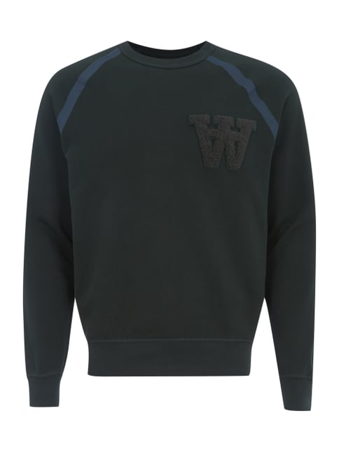 Sweatshirt mit Logo-Applikation Grün - 1