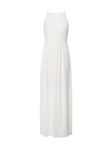 Young Couture Abendkleid aus Chiffon Offwhite