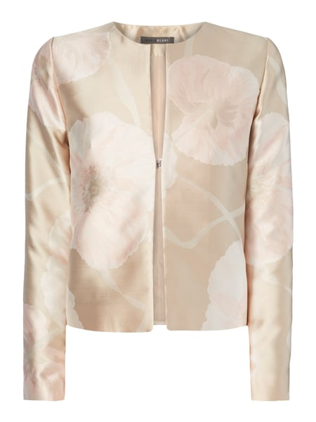 Young Couture Cocktailjacke mit floralem Muster Beige