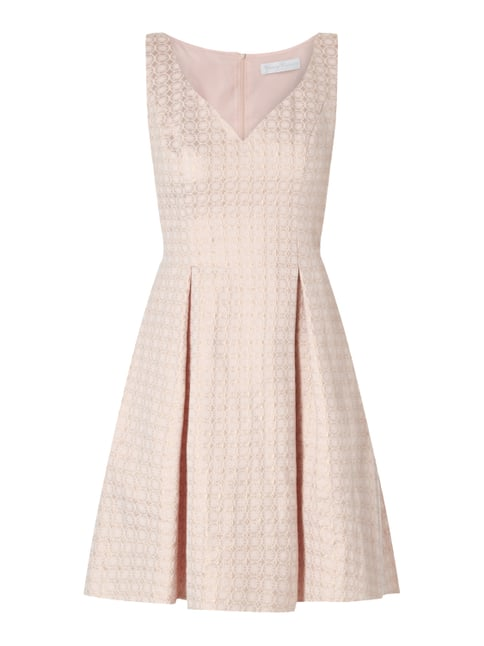 Young Couture Cocktailkleid mit eingewebtem Muster Rosé - 1 ... be7032bea5