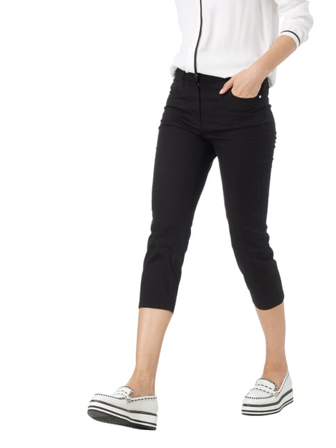 Zerres Coloured Comfort Fit Caprijeans Schwarz - 1