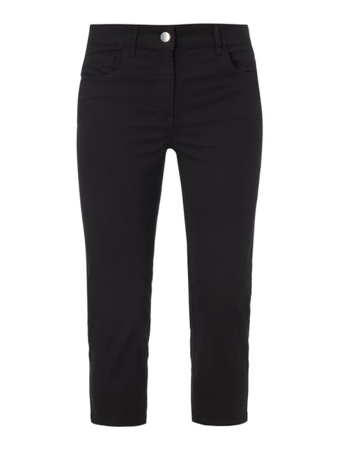 Coloured Comfort Fit Caprijeans Grau / Schwarz - 1