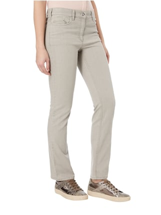 Zerres Coloured Super Slim Fit 5-Pocket-Jeans Taupe - 1