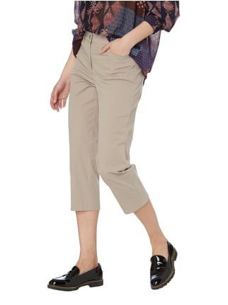 Zerres Comfort Fit Caprihose aus Baumwoll-Elasthan-Mix Taupe - 1